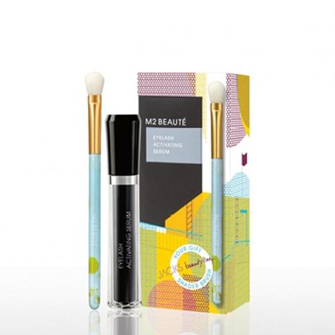 M2 Beauté M2 Lashes Eyelash Activating Serum 5ml + Schattierpinsel